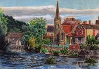 Llangollen Methodist Church Wales UK Fine Art Print