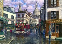 Montmartre A Break In The Storm Fine Art Print