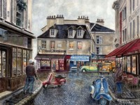 Place Du Tertre From Rue Du Mont Cenis Fine Art Print