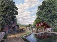 Summer on the Morris Canal Fine Art Print