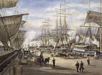 The Green St. Wharf Fine Art Print