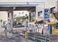 Santa Monica,  Prominade At Sunset Fine Art Print