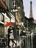 Romance in Paris (Detail) Fine Art Print