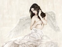 Inspiring Angel Fine Art Print