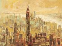 Tramonto su Manhattan Fine Art Print
