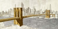 Gilded Brooklyn Bridge Fine Art Print
