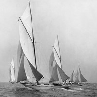 Sailboats Sailing Downwind, 1920 (Detail) Fine Art Print