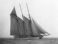 The Schooner Karina at Sail, 1919 Fine Art Print