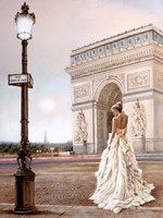 Romance in Paris II Framed Print