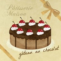 Gateau au Chocolat Fine Art Print