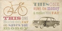 Bike vs Car Fine Art Print