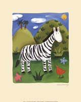 Zara the Zebra Fine Art Print