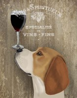 Dog Au Vin Beagle Fine Art Print