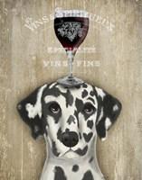 Dog Au Vin Dalmatian Fine Art Print