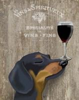Dog Au Vin Dachshund Fine Art Print