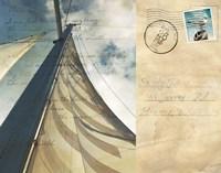 Voyage Postcard II Framed Print