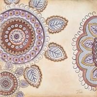Lavender Textiles I Framed Print