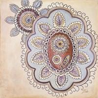 Lavender Textiles II Framed Print
