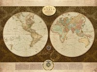 Map of World Fine Art Print