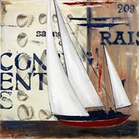 Blue Sailing Race II Fine Art Print