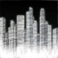 Black and White City I Framed Print