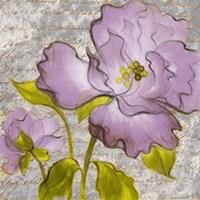 Purple Florals I Framed Print