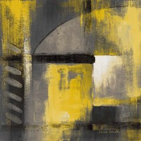 Grey and Yellow Soiree I Fine Art Print