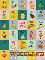 Woodland Alphabet Fine Art Print