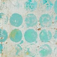 Aqua Circles I Fine Art Print
