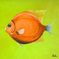 Bright Aquatic Life II Fine Art Print