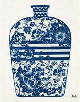 The Indigo Pottery II Framed Print