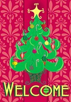 Christmas Tree Welcome Fine Art Print