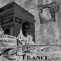 Parisian Wall Black II Fine Art Print