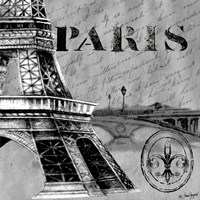 Parisian Wall Black III Fine Art Print
