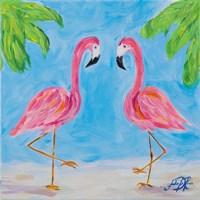 Fancy Flamingos III Fine Art Print