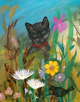Cat in the Garden Fine Art Print
