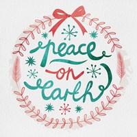 White Christmas Wreath III Fine Art Print