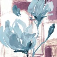 Blue Magnolias I Framed Print