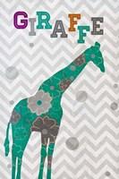 Emerald Giraffe Fine Art Print