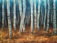 Moonlit Birchwood Fine Art Print