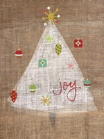Christmas Joy on Burlap II Fine Art Print