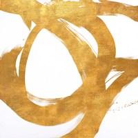 Gold Circular Strokes I Fine Art Print