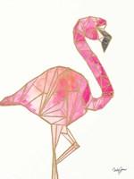 Origami Flamingo Fine Art Print