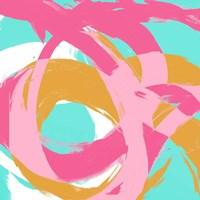 Pink Circular Strokes I Fine Art Print