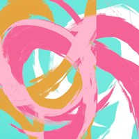 Pink Circular Strokes II Framed Print