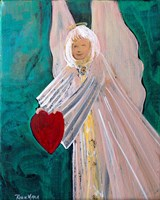 Angel Sharing Heart Fine Art Print