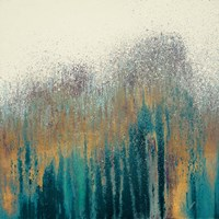 Teal Woods with Gold Fine Art Print