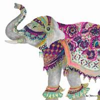 Boho Elephant Square Fine Art Print