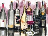 Bottles Reflect on Red II Framed Print