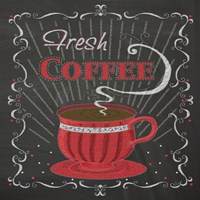 Coffee Chalk Square I Fine Art Print
